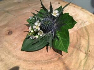 Wedding photography image of a Boutonnierre