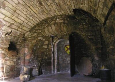 Hunterston Castle Interior Basement with the door open