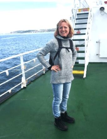 Lucy Jane Hunter-Weston  on a ship