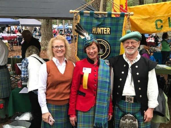 Clan Hunter tartan skirt