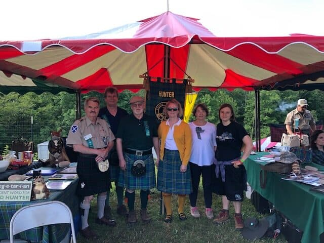 Volunteer at Clan Hunter at Grandfather mountain