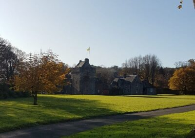 Hunterston Castle Grounds in Autumn