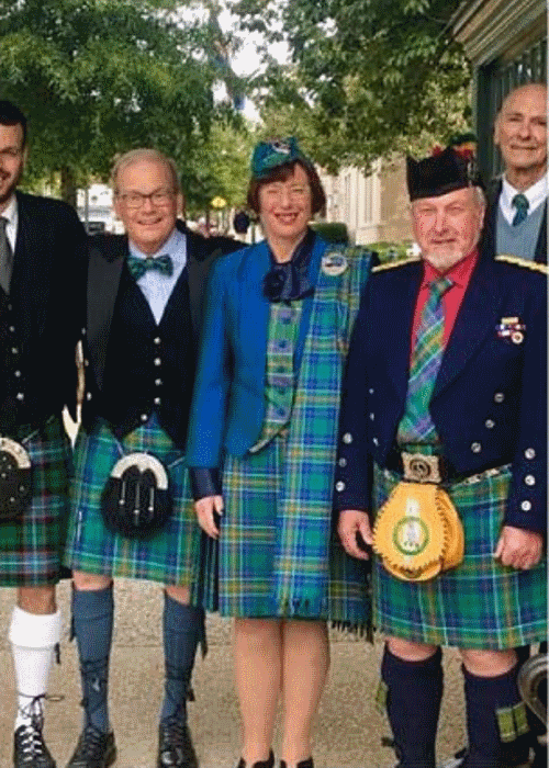 Donate picture with people in kilts.