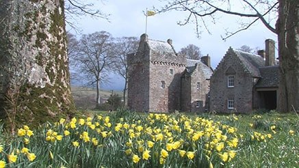 Clan Hunter History - Hunterston Castle With Daffodils