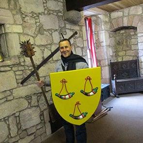 Modern Knight at Hunterston Castle
