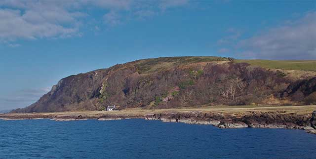 Book a visit to Hunterston Castle and see the view of Three Sister and Hawking Crag