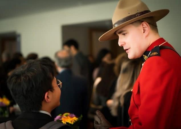 Inspiring others: Richard Wright, member of Clan Hunter Canada, shares a personal moment of pride working with the Royal Canadian Mounted Police.