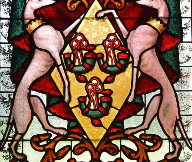 Jane Hunter-Weston Stained Glass Arms 1883