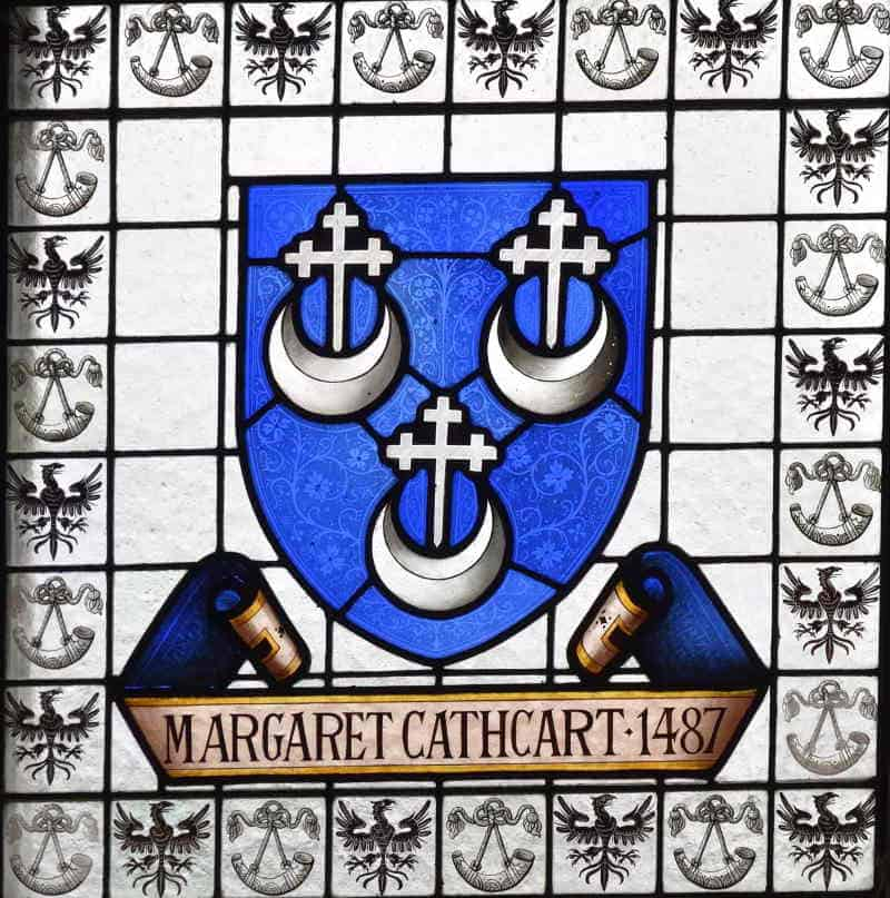 Image of stained glass representation of Margaret Cathcart 4787
