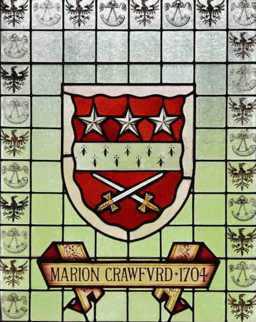 Marion Crawfurd 1704 Image of Stained Glass window